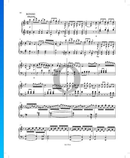 Sonata in F Major No. 2, Op. 53 P. XII: 42: 3. Rondo Sheet Music