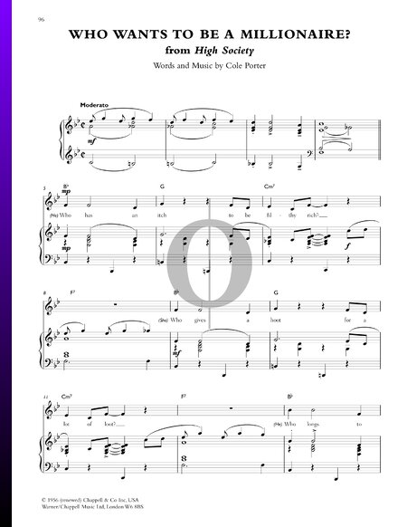 Who Wants To Be A Millionaire? Sheet Music