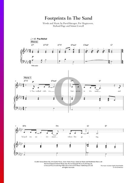 Footprints In The Sand Sheet Music