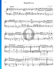 Bagatelle en Sol mineur, Op. 119 No. 1