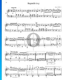 Bagatelle in G Minor, Op. 119 No. 1