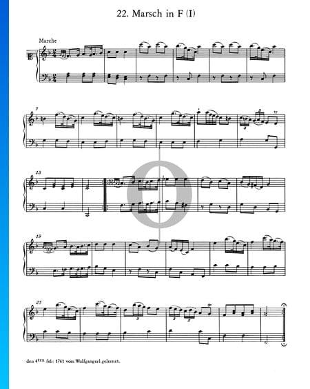 Marsch in F-Dur, I Musik-Noten