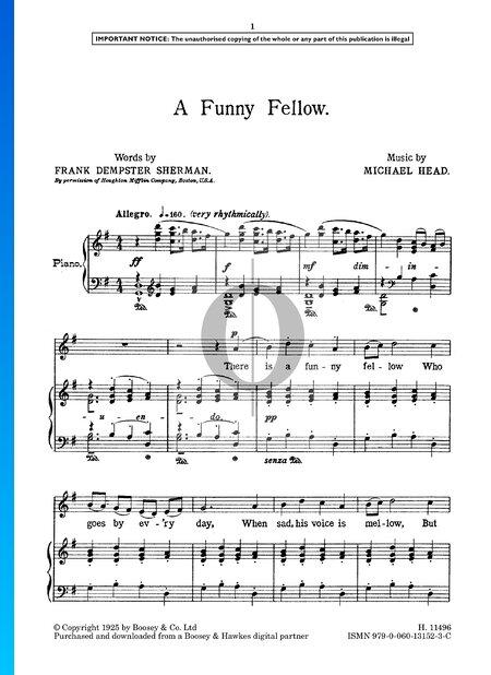A Funny Fellow Musik-Noten