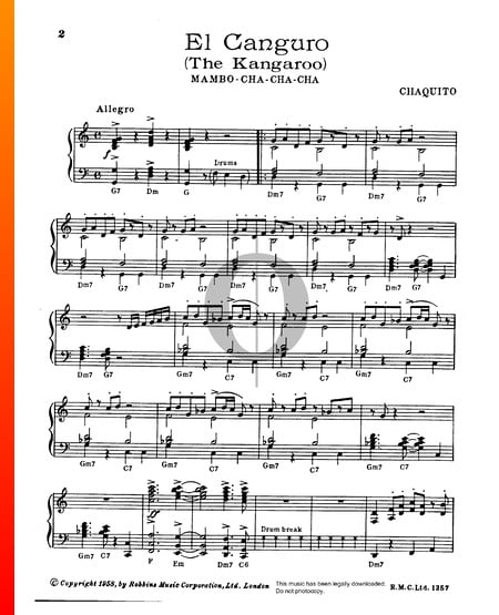 El Canguro Sheet Music