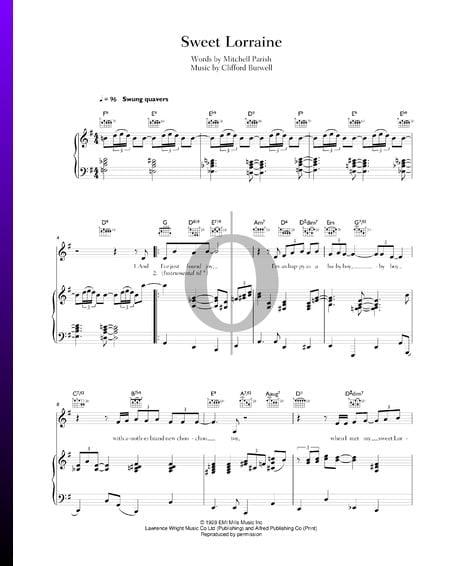 Sweet Lorraine Musik-Noten