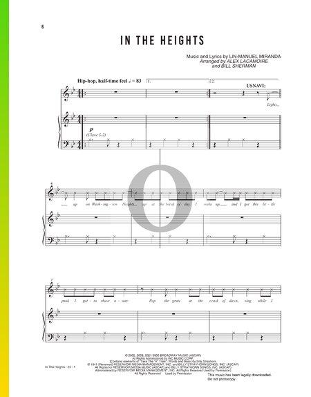 In The Heights Musik-Noten