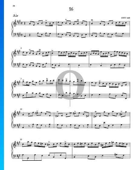 Air A-Dur HWV 465 Musik-Noten