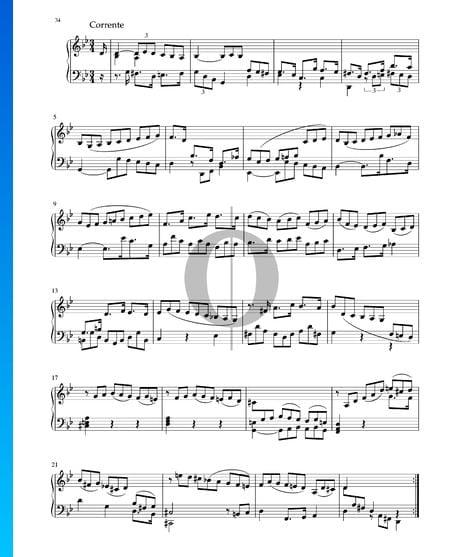 Partita in G Minor, BWV 1004: 2. Corrente Sheet Music