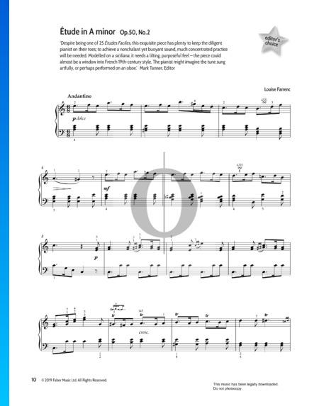 Etüde in a-Moll, Op.50 Nr.2 Musik-Noten