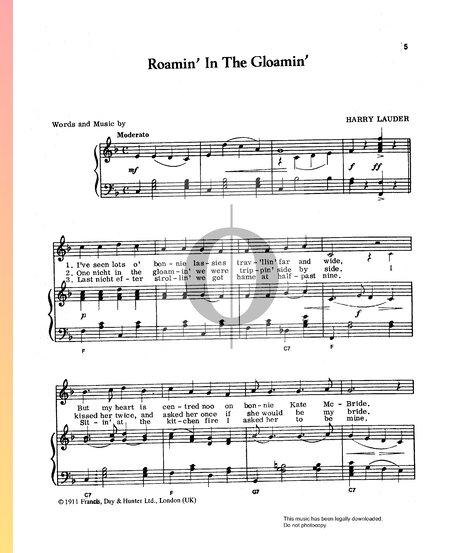 Roamin' In The Gloamin' Musik-Noten