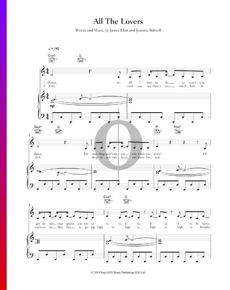 All The Lovers Sheet Music
