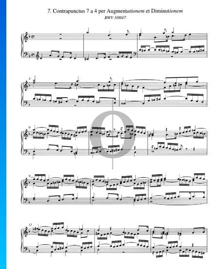 Contrapunctus 7, BWV 1080/7 Musik-Noten