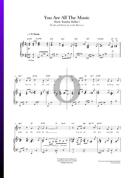 You Are All The Music Sheet Music