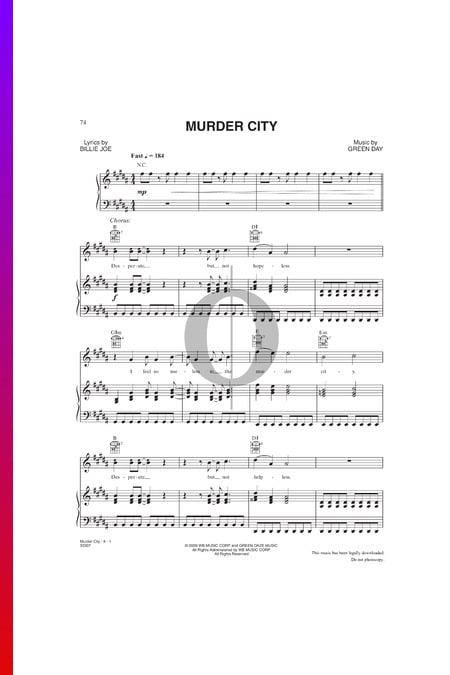 Murder City Musik-Noten