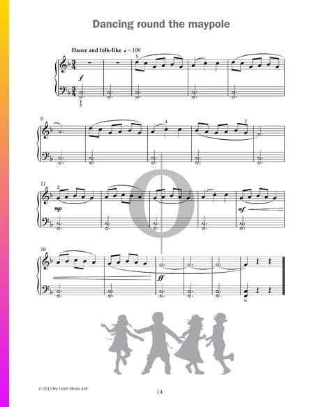 Dancing round the maypole Musik-Noten