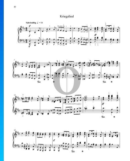 Song Of War, Op. 68 No. 31 Sheet Music