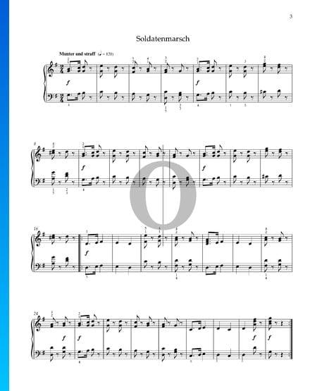 Marcha del soldado, Op. 68 n.º 2 Partitura