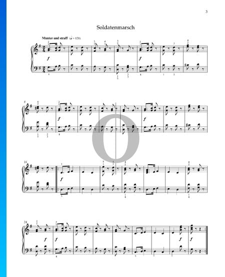 Soldiers' March, Op. 68 No. 2 Sheet Music