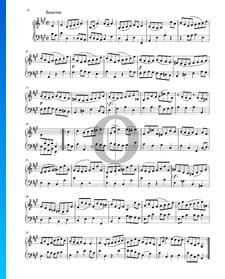 Partita en La Majeur, BWV 1006: 5. Bourrée