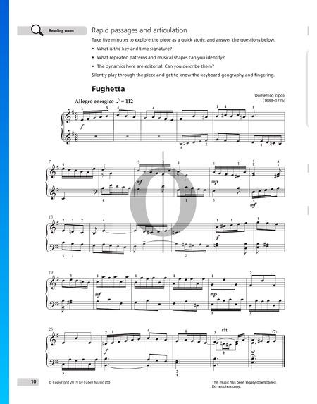 Fughetta Musik-Noten