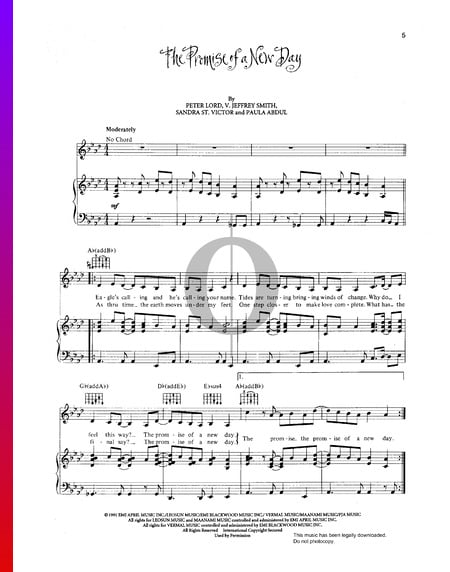 The Promise Of A New Day Sheet Music