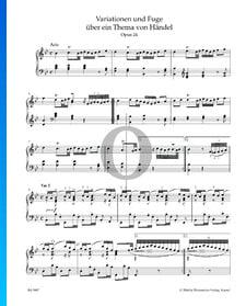 Variationen und Fuge über ein Thema von Händel, Op. 24: Arie und Variation I