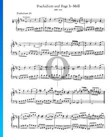 Prélude 24 Si mineur, BWV 869