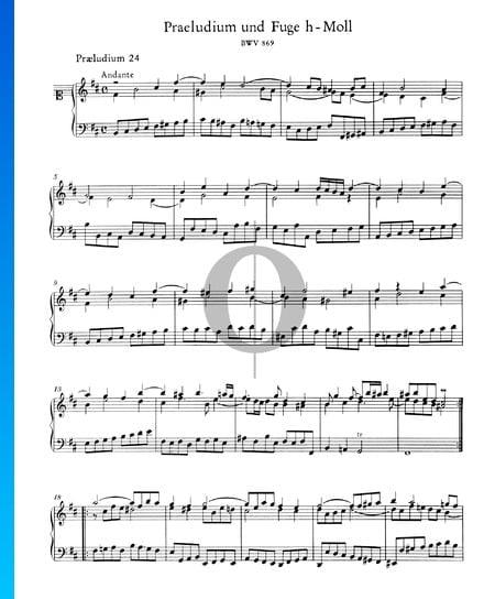 Prelude 24 B Minor, BWV 869 Sheet Music