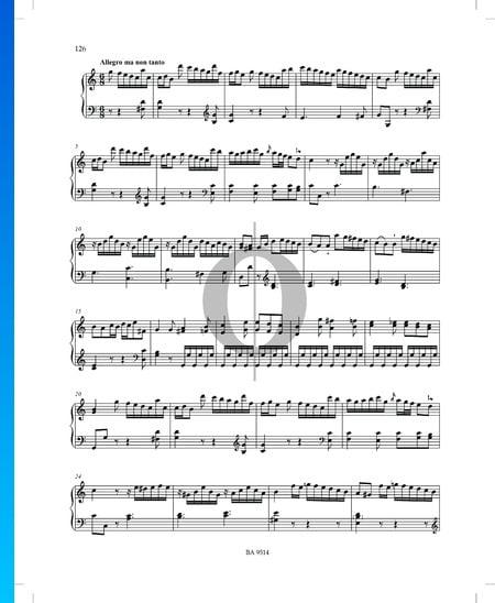 Sonate C-Dur, P. XII: 46: 2. Allegro ma non tanto Musik-Noten