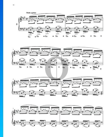 Preludio en fa sostenido mayor, Op. 28 n.º 8 Partitura