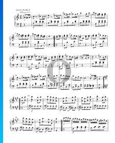 """Klaviersonate Nr. 11 A-Dur, KV 331 (300i): 3. Allegretto - Rondo """"Alla Turca"""""""