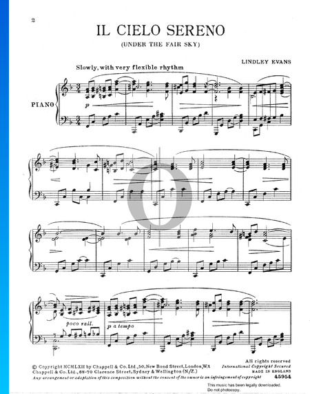 Il Cielo Sereno (Under The Fair Sky) Sheet Music