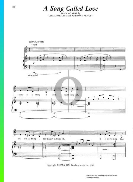 A Song Called Love Musik-Noten