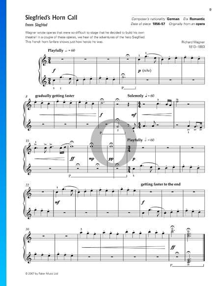 Siegfried, WWV 86 C: Siegfrieds Hornruf Musik-Noten