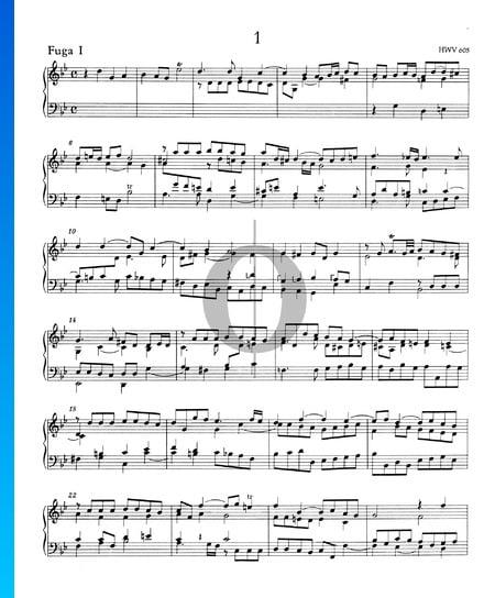 Fugue g-Moll, Nr. 1 HWV 605 Musik-Noten