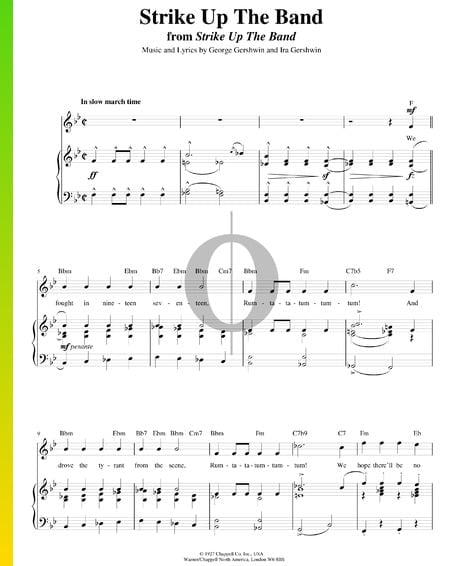 Strike Up The Band! Sheet Music