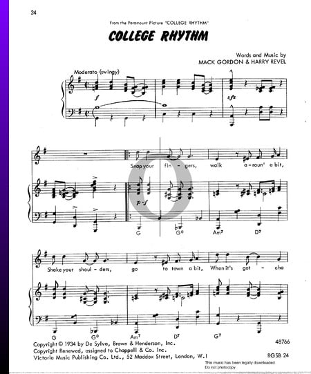 College Rhythm Sheet Music