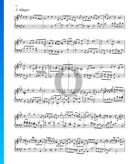 Suite Nr. 5 fis-Moll, HWV 431: 3. Allegro Musik-Noten