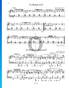 Feuille d'album in E Major, B. 151