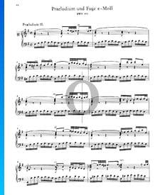 Prélude 10 Mi mineur, BWV 855