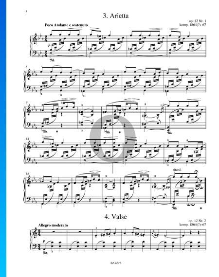 Arietta, Op. 12 Nr. 1 Musik-Noten
