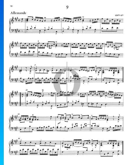 Allemande A-Dur, HWV 477 Musik-Noten