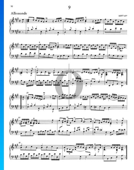 Allemande A Major, HWV 477 Sheet Music