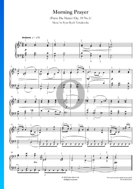 Morgengebet, Op. 39 Nr. 1 Musik-Noten