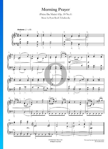 Prière du Matin, Op. 39 No.1 Partition