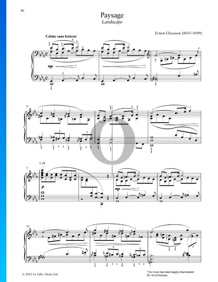 Paysage Sheet Music