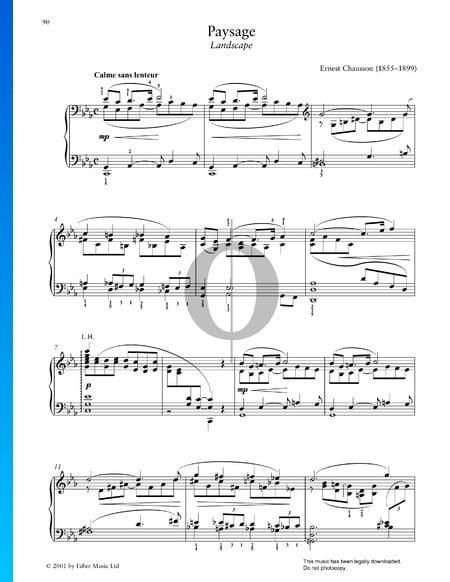 Paysage Musik-Noten