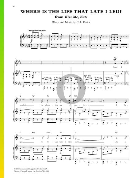 Where Is The Life That Late I Led? Sheet Music