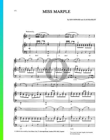 Miss Marple Musik-Noten