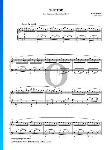 Humorous Bagatelles, Op. 11: The Top Musik-Noten